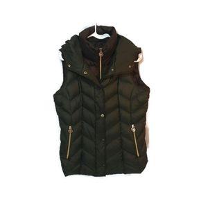 Michael Kors Green layered puffy vest